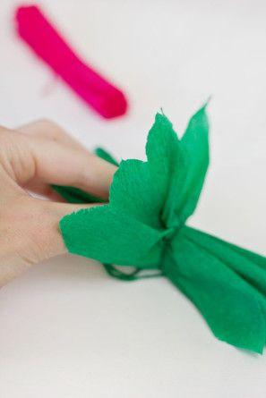 Flores de papel en la Piñata