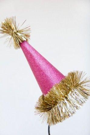 Glitter Holiday Party Sombrero de bricolaje
