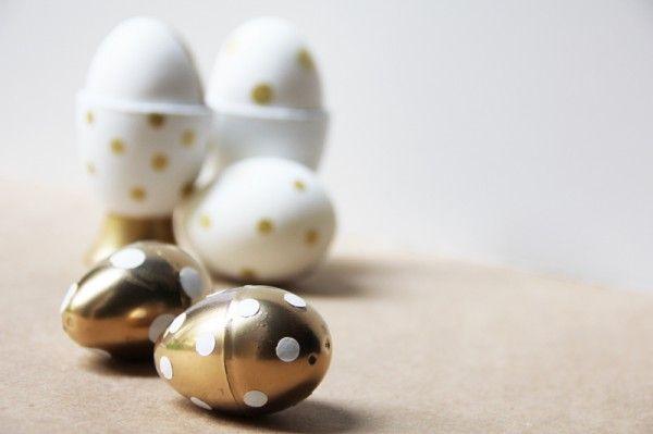 bricolaje-oro-polka-dot-pascua-huevos-hueveras
