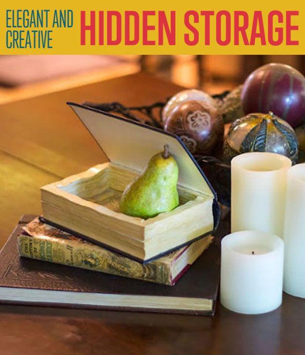 Fotografía - DIY Ocultos Almacenamiento en libros antiguos | DIY almacenamiento Ideas