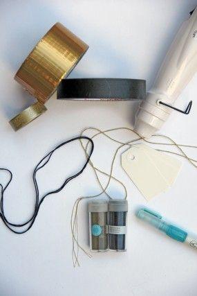 DIY-papel de regalo suministros
