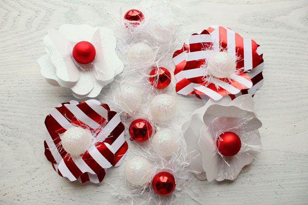 Bricolaje vacaciones flores de papel para Embalaje de regalo por los diseños de la formación de hielo | Estudio DIY (3)