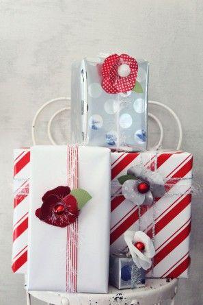 Bricolaje vacaciones flores de papel para Embalaje de regalo por los diseños de la formación de hielo | Estudio DIY