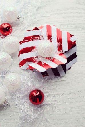 Bricolaje vacaciones flores de papel para Embalaje de regalo por los diseños de la formación de hielo | Estudio DIY (4)