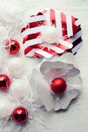 Bricolaje vacaciones flores de papel para Embalaje de regalo por los diseños de la formación de hielo | Estudio de bricolaje (1)