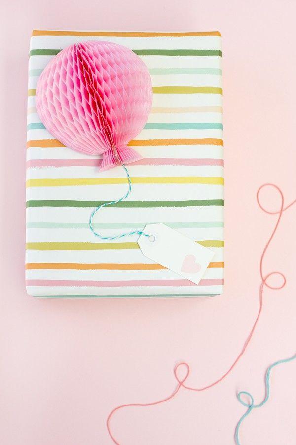 Bricolaje Honeycomb globo Toppers regalo