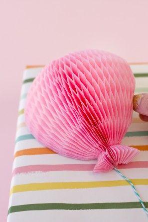 Honeycomb Globo Topper regalo DIY