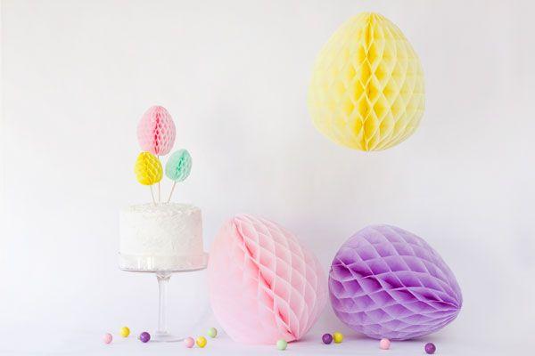 Huevos de nido de abeja de bricolaje para Pascua