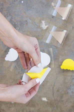 DIY del cono de helado del codo Parches