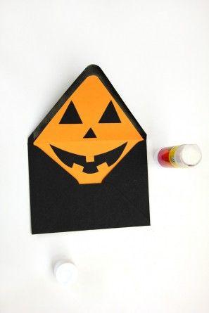 DIY Jack-o-Linterna Sobre Liners para Halloween