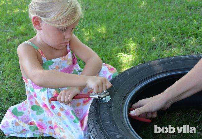 Oscilación del neumático DIY - Paso 3