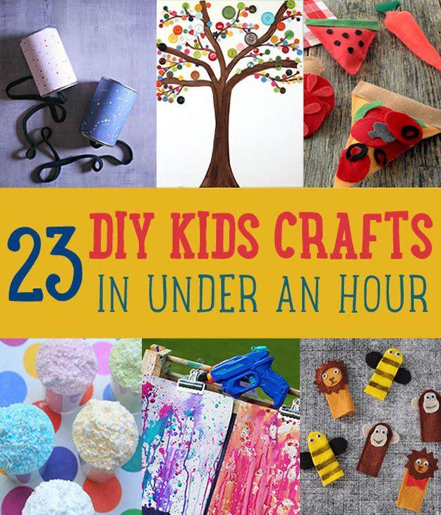 Fotografía - DIY Kids Crafts usted puede hacer en menos de una hora