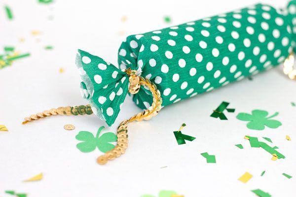 Lucky Confeti Popper DIY para el Día de San Patricio