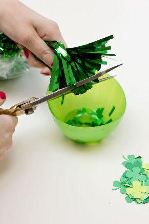 DIY día del St Patricks Confeti