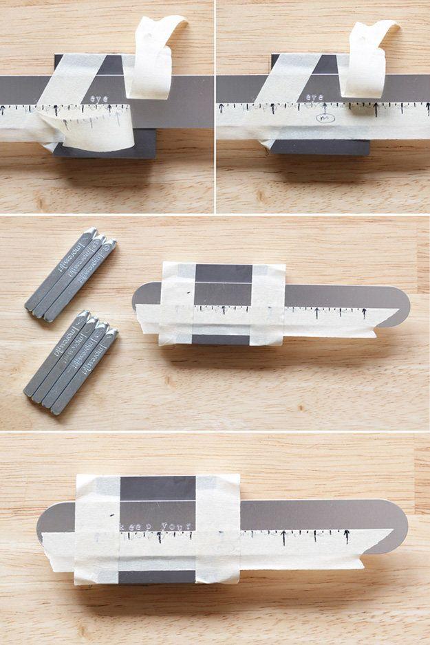 DIY Metal Stamping Joyería | metal estampado Cuff