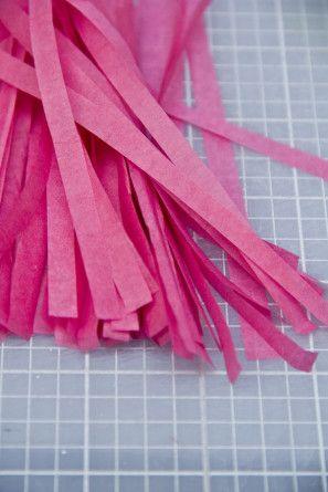 DIY Mini borlas Papel Tissue