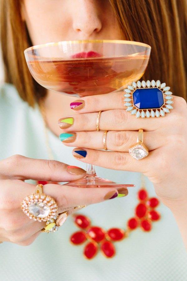 DIY Tutorial de uñas Árbol de navidad moderno
