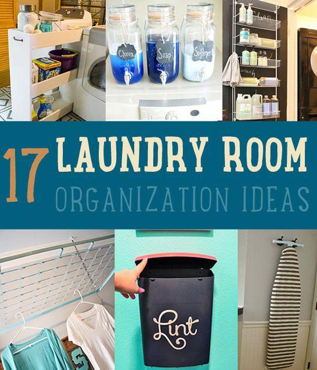 17 Ideas de lavandería Organización de habitaciones | http://artesaniasdebricolaje.ru/laundry-room-organization-ideas/