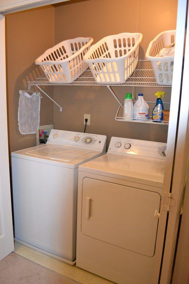 Consejos simples y fáciles de lavandería Organización de habitaciones | http://artesaniasdebricolaje.ru/laundry-room-organization-ideas/
