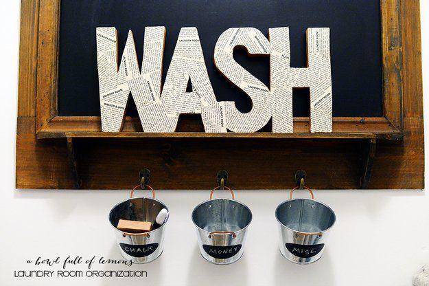 Ideas Lavandería Organización bricolaje simples | http://artesaniasdebricolaje.ru/laundry-room-organization-ideas/