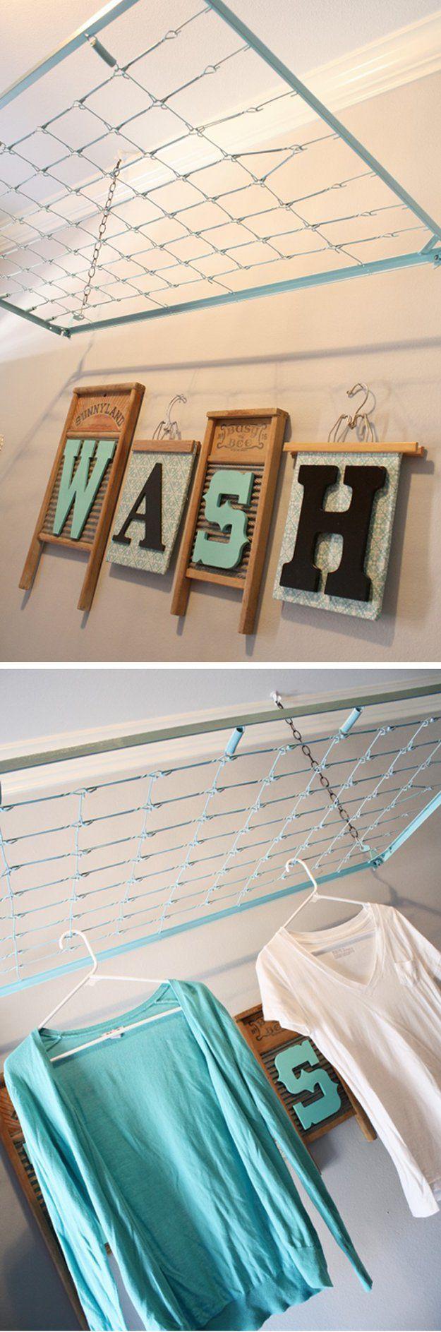 Impresionante Lavandería Tendedero Hacks | http://artesaniasdebricolaje.ru/laundry-room-organization-ideas/