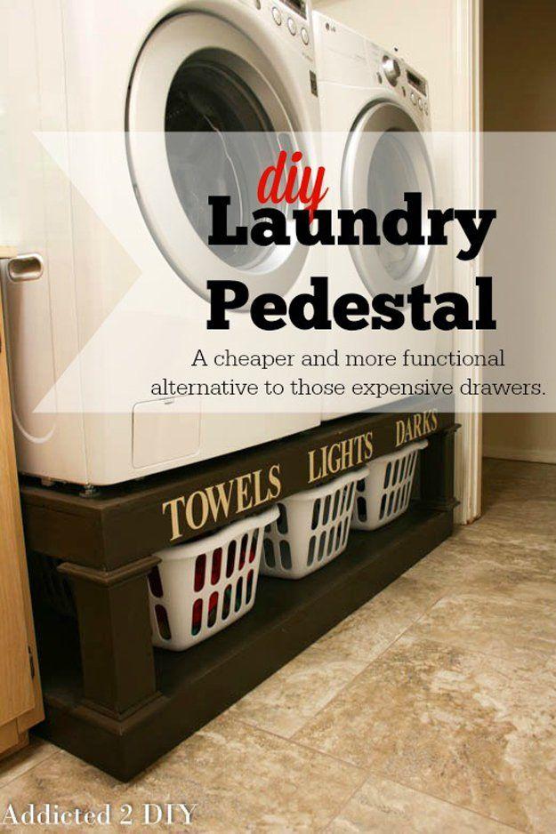 Espacio Económico Ahorro de lavandería Trastero | http://artesaniasdebricolaje.ru/laundry-room-organization-ideas/
