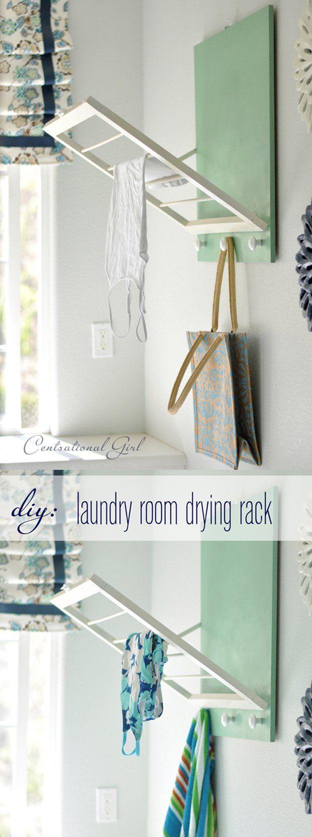 DIY ahorro de espacio y de impresionantes Ideas Lavandería para Apartment | http://artesaniasdebricolaje.ru/laundry-room-organization-ideas/