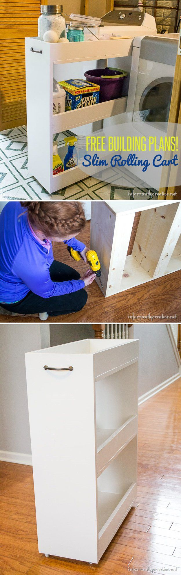 Impresionante ahorro de espacio de lavandería sala de almacenamiento para materias | http://artesaniasdebricolaje.ru/laundry-room-organization-ideas/