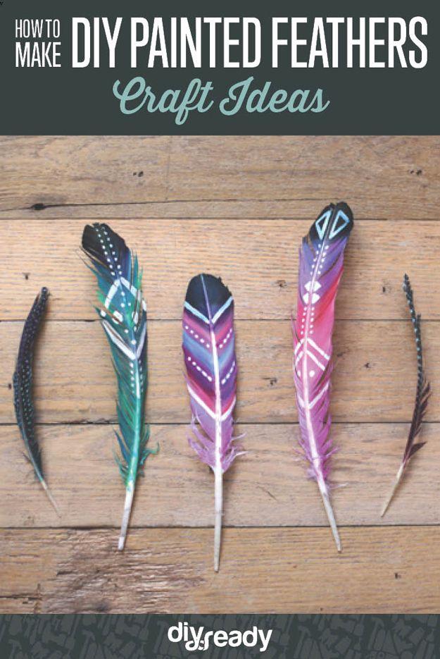Cómo hacer bricolaje pintado plumas  