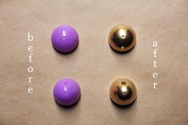 pintada en oro pulverización-pascua-huevos