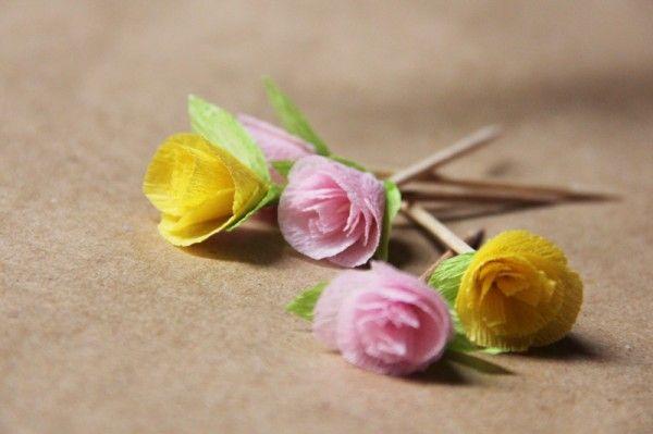 crepé, papel o flores