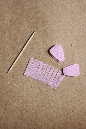 papel crepé-mini-flor-bricolaje