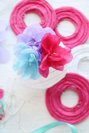 DIY flor de papel Linternas