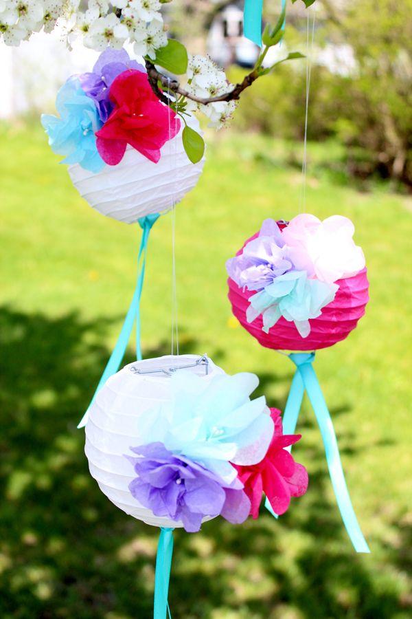 Cómo hacer flores de papel Linternas
