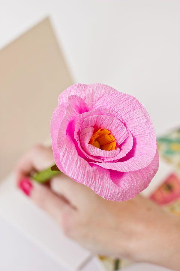Lápices DIY flor de papel