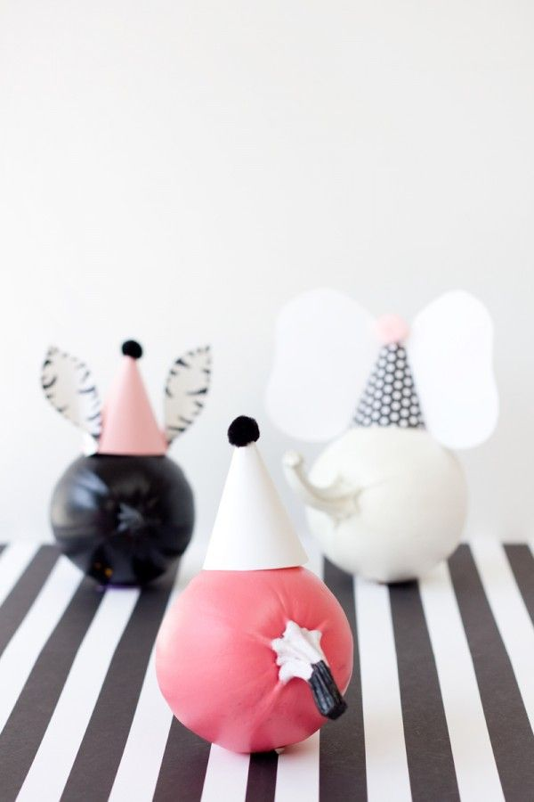 DIY Party Pumpkins animales