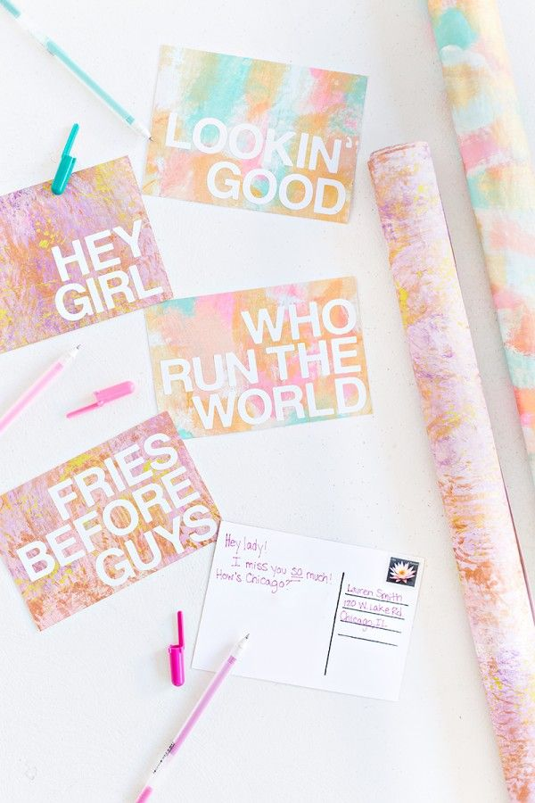 Fotografía - DIY Patterned Postales Mensajes