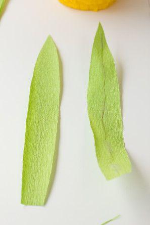 Cómo hacer hojas de papel crepé