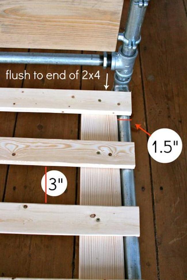 Pipe cama DIY Cómo Paso 12