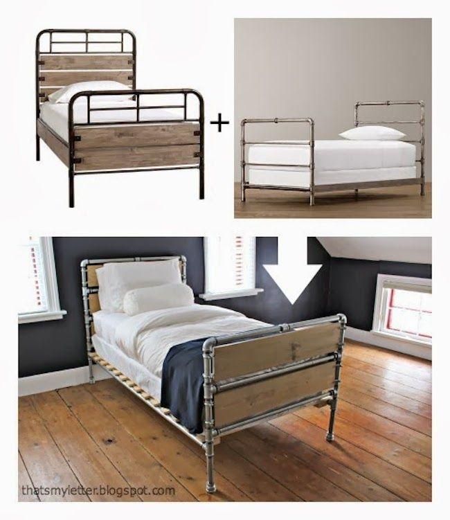Knock Off Estructura de cama Decoración