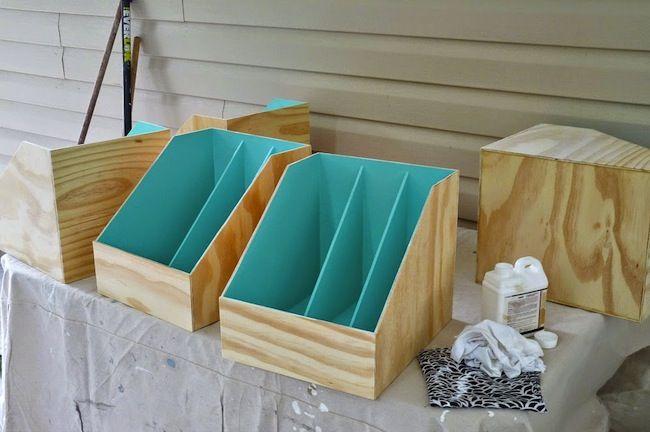 DIY archivo de la revista contrachapado - Pintura Plywood