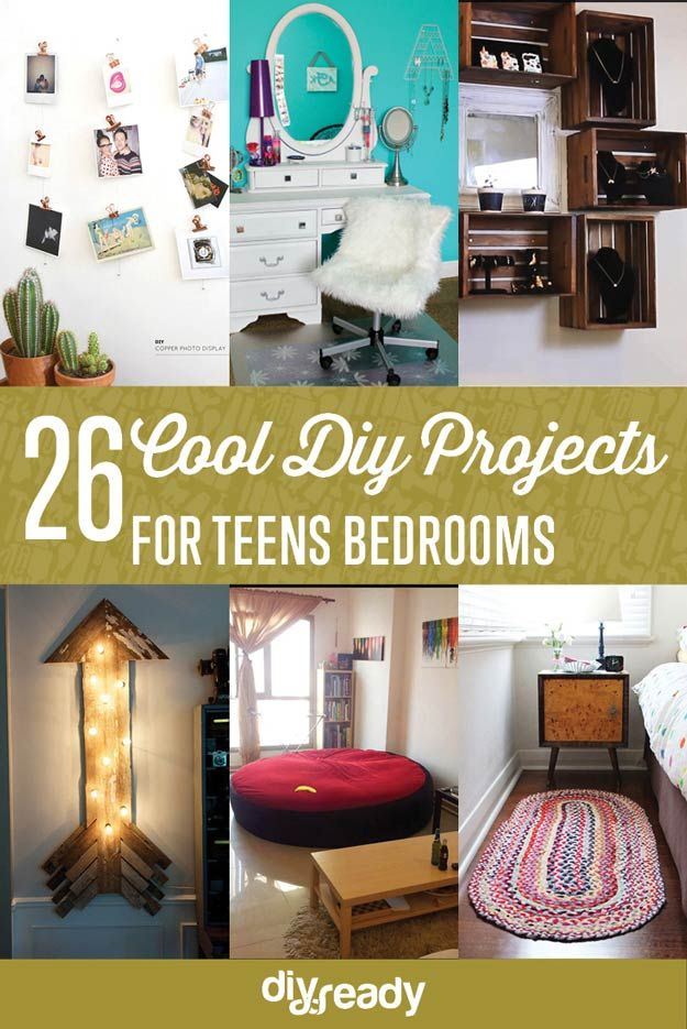 26 Proyectos de bricolaje frescos para Adolescentes Dormitorios | http://artesaniasdebricolaje.ru/diy-projects-for-teens-bedroom/