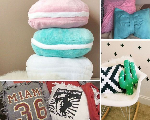 Frescos Oficios almohada DIY para Adolescentes Dormitorio | http: //artesaniasdebricolaje.ru/diy-projects-for-teens-bedroom/