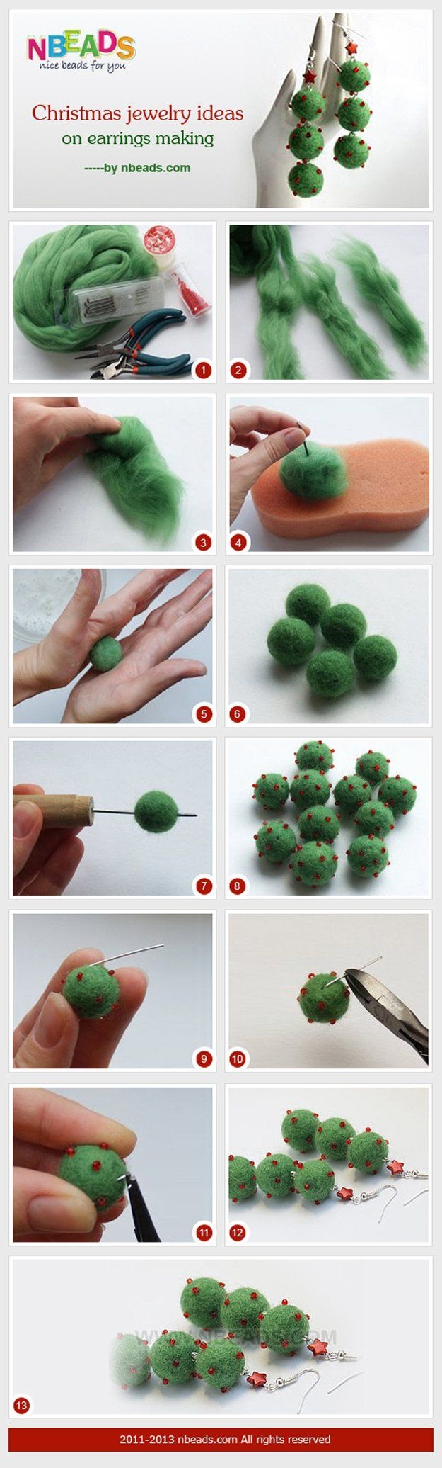 DIY fieltro Ideas joyería de la bola y la Inspiración | http://artesaniasdebricolaje.ru/diy-projects-with-felt-balls/