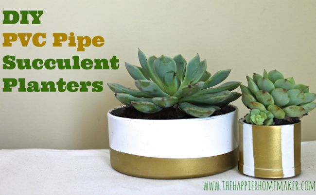 DIY PVC Pipe Plantadores Cómo