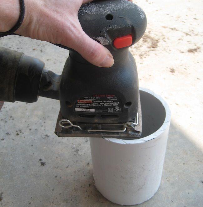 Lijar tubo de PVC botellero DIY