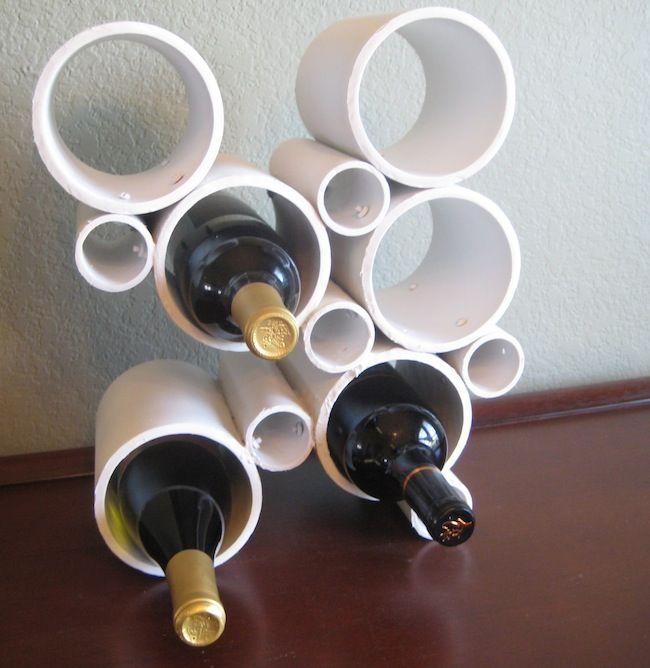 PVC DIY botellero tubería Terminado