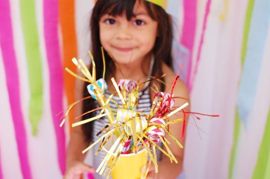 colorido-arco iris-niñas-fiesta de cumpleaños