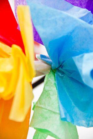 Sombrero DIY partido del arco iris