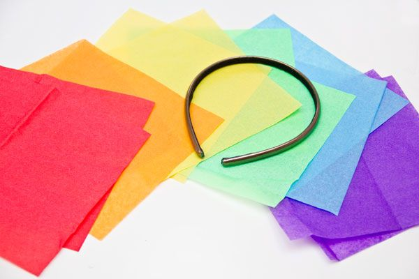 Bricolaje Suministros Rainbow Fascinator